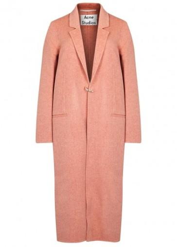 Acne Studios Foin Doublé wool and cashmere blend coat http://www.harveynichols.com/brand/acne/165857-foin-double-wool-and-cashmere-blend-coat/p2756950/