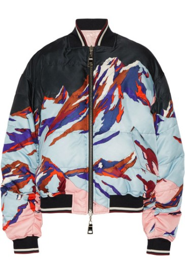 Emilio Pucci reversible bomber https://www.net-a-porter.com/gb/en/product/754866/emilio_pucci/reversible-printed-faille-and-shell-down-bomber-jacket