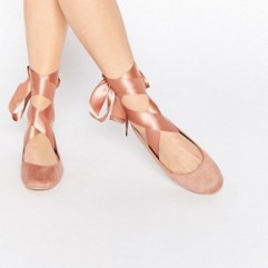 Glamorous ballet shoes http://www.asos.com/glamorous/glamorous-nude-suedette-ribbon-tie-ballet-shoes/prd/6142718?iid=6142718&clr=Nude&SearchQuery=&cid=4172&pgesize=204&pge=4&totalstyles=2662&gridsize=3&gridrow=54&gridcolumn=3