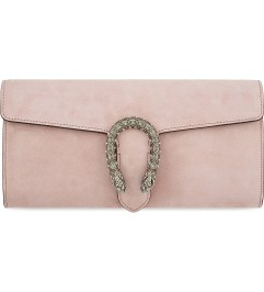GUCCI Dionysus suede clutch http://www.selfridges.com/GB/en/cat/gucci-dionysus-suede-clutch_141-77035800-425250CMBIN/?previewAttribute=Soft+pink