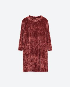 ZARA velvet dress http://www.zara.com/uk/en/woman/special-prices/dresses/velvet-dress-c862002p3804559.html