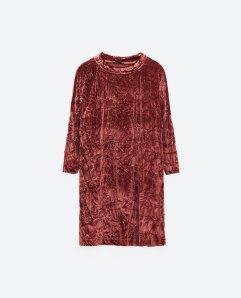 ZARA velvet dress http://www.zara.com/uk/en/woman/special-prices/dresses/velvet-dress-c862002p3804559.html