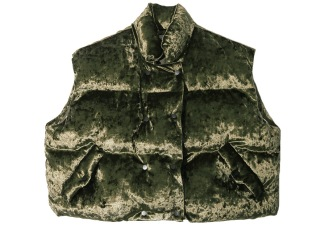 STYLENANDA velvet gilet http://en.stylenanda.com/product/short-padded-vest/217339/?cate_no=51&display_group=1