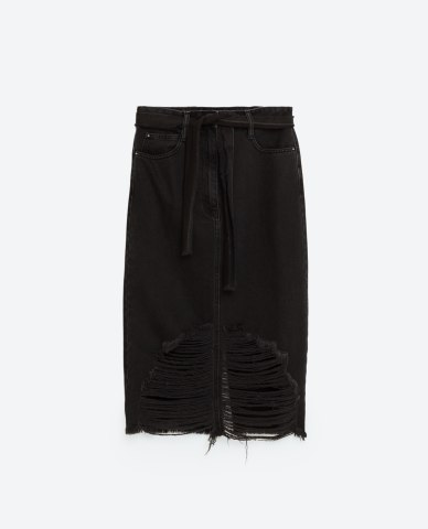 ZARA ripped midi skirt http://www.zara.com/uk/en/trf/skirts/ripped-midi-skirt-c269213p4029034.html