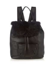 Elizabeth and James leather backpack http://www.matchesfashion.com/products/Elizabeth-And-James-Langley-shearling-and-leather-backpack-1063972